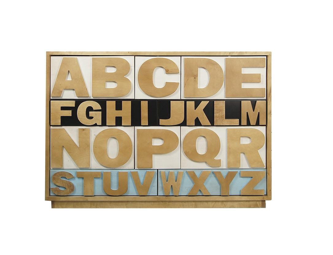 Комод Alphabeto BirchИнтерьерные комоды<br><br><br>Material: Береза<br>Width см: 130<br>Depth см: 40<br>Height см: 102