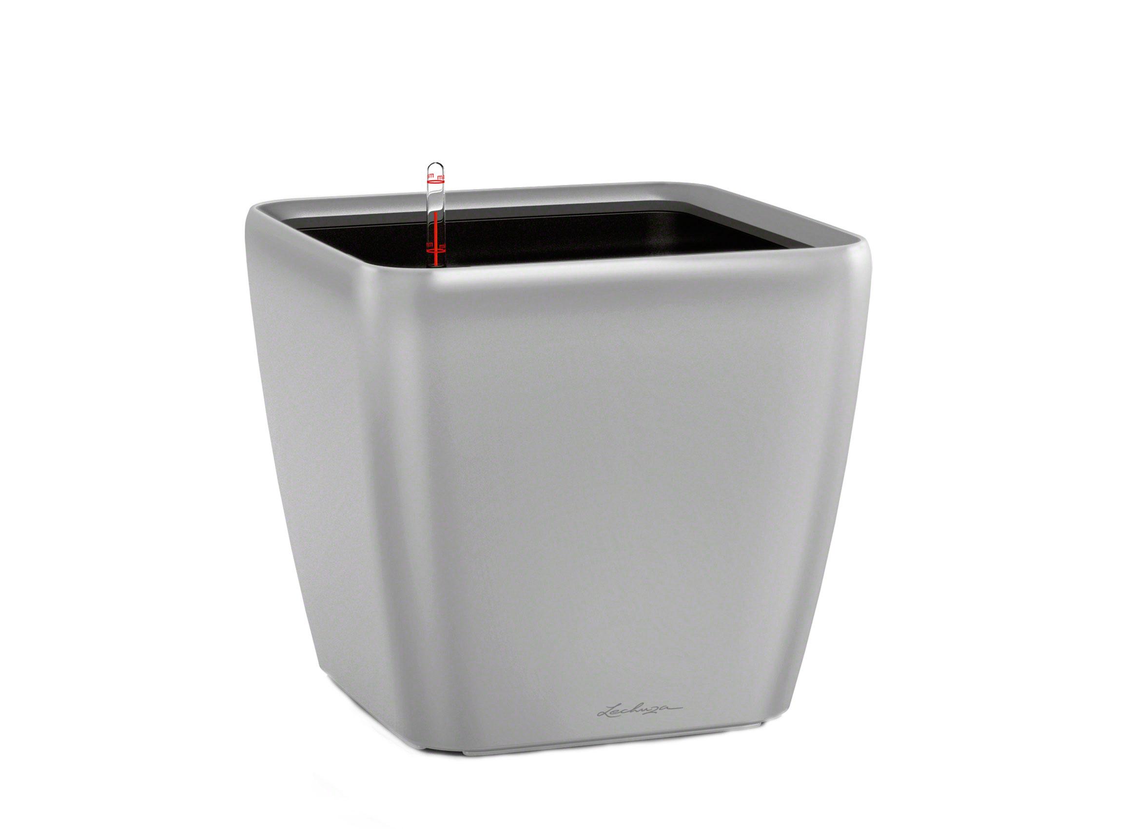 Кашпо с системой полива Квадро LSКашпо и аксессуары для цветов<br>Кашпо со съемным горшком.<br><br>Material: Пластик<br>Ширина см: 43<br>Высота см: 40<br>Глубина см: 43