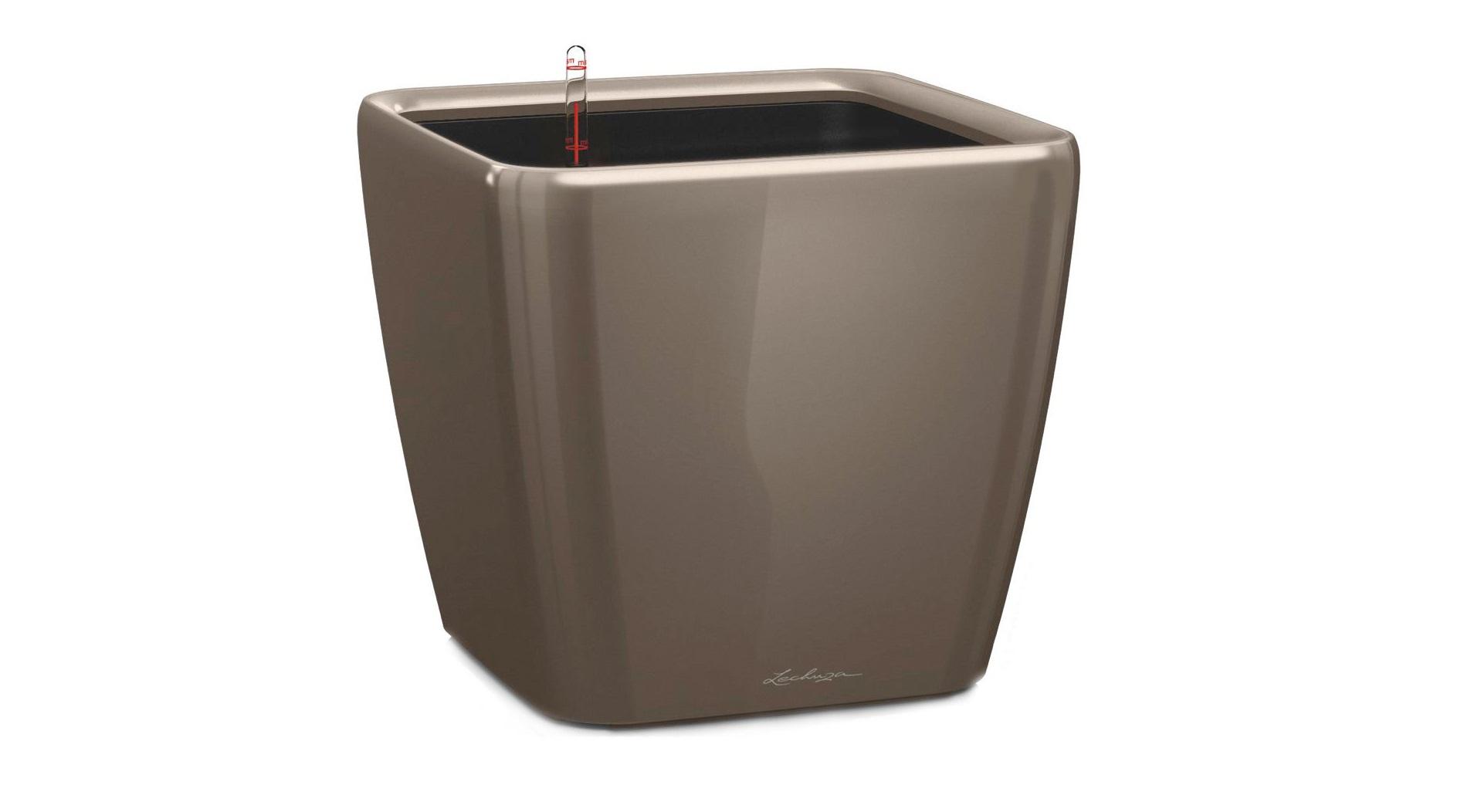Кашпо с системой полива Квадро LSКашпо и аксессуары для цветов<br>Кашпо со съемным горшком.<br><br>Material: Пластик<br>Width см: 43<br>Depth см: 43<br>Height см: 40