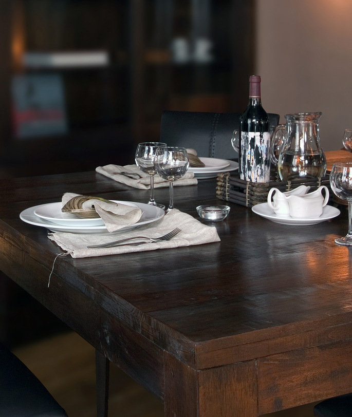 Стол обеденный  Catalina 140 (dark brown)Обеденные столы<br><br><br>Material: Тик<br>Length см: 140<br>Width см: 70<br>Height см: 76