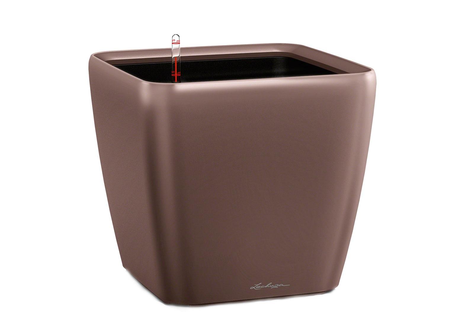 Кашпо с системой полива Квадро LSКашпо<br>Кашпо со съемным горшком.<br><br>Material: Пластик<br>Width см: 43<br>Depth см: 43<br>Height см: 40