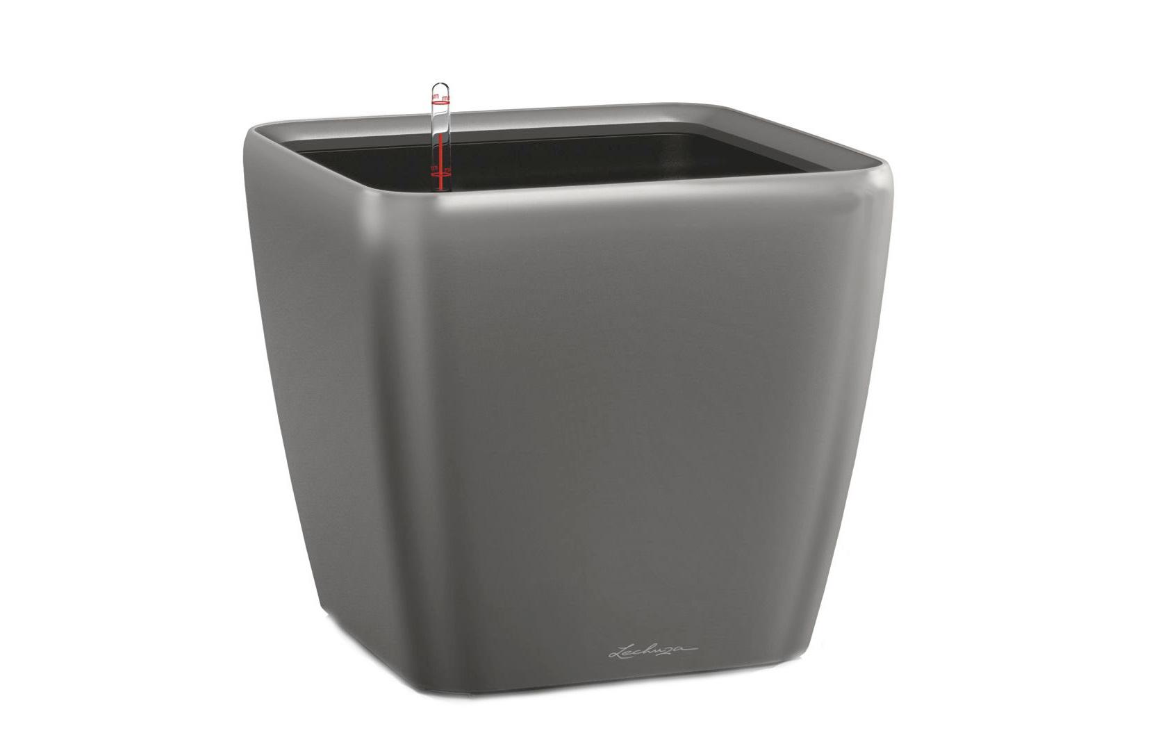 Кашпо с системой полива Квадро LSКашпо<br>Кашпо со съемным горшком.<br><br>Material: Пластик<br>Width см: 50<br>Depth см: 50<br>Height см: 47