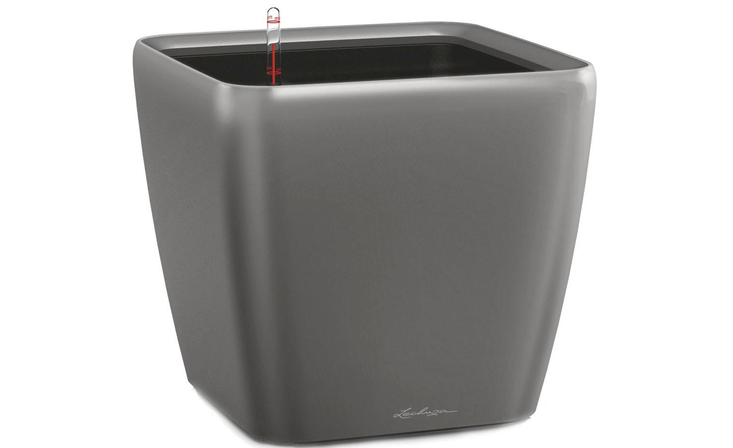 Кашпо с системой полива Квадро LSКашпо<br>Кашпо со съемным горшком.<br><br>Material: Пластик<br>Width см: 33<br>Depth см: 33<br>Height см: 35