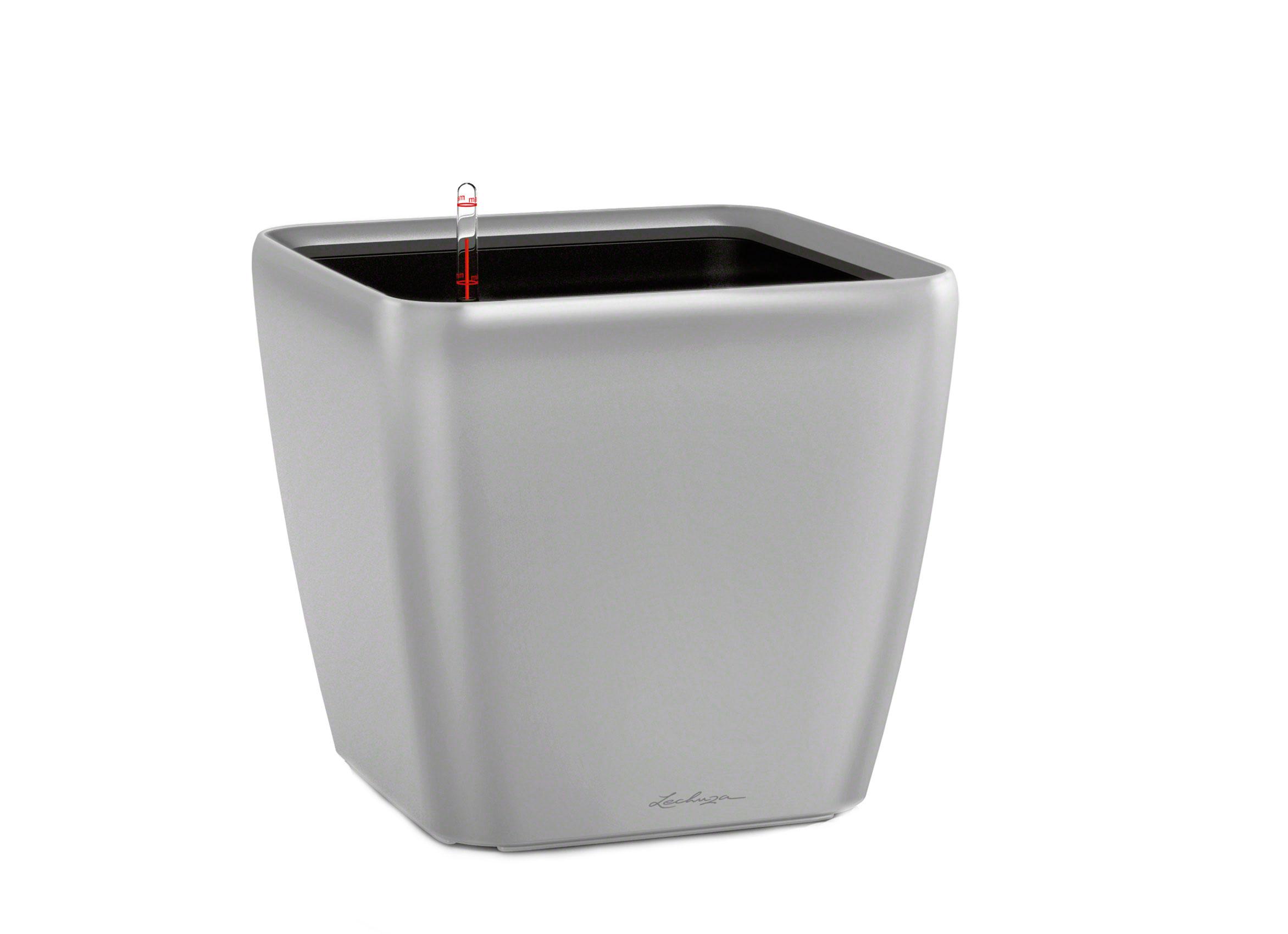 Кашпо с системой полива Квадро LSКашпо<br>Кашпо со съемным горшком.<br><br>Material: Пластик<br>Width см: 28<br>Depth см: 28<br>Height см: 26