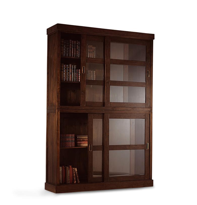 Шкаф книжный  BloraКнижные шкафы и библиотеки<br>Функциональный и удобный книжный шкаф в стиле рустик из натурального тика. В него поместится солидная библиотека. Корешки старинных собраний сочинений будут гармонично смотреться в шкафу, сумевшем передать природную силу и мощь дерева.<br><br>Material: Тик<br>Length см: None<br>Width см: 155.0<br>Depth см: 43.0<br>Height см: 232.0<br>Diameter см: None