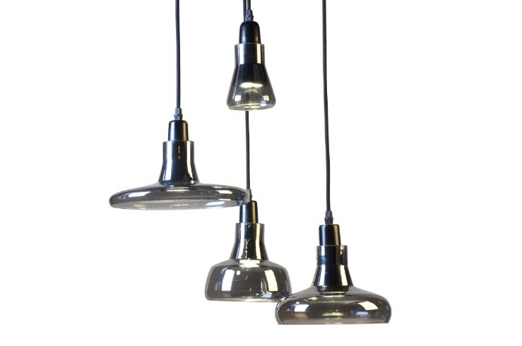 Светильник Boretto smoke glassПодвесные светильники<br>Изысканный и лаконичный подвесной светильник Boretto привлечет внимание любого! Главной его изюминкой являются его оригинальные разноуровневые плафоны разной формы, находящиеся на одном основании. Светильник дает направленный яркий свет, его удачно располагать над столом в столовой зоне или в гостиной, для эффекта зонирования пространства.&amp;lt;div&amp;gt;&amp;lt;br&amp;gt;&amp;lt;/div&amp;gt;&amp;lt;div&amp;gt;&amp;lt;div&amp;gt;Количество ламп: 4.&amp;lt;/div&amp;gt;&amp;lt;div&amp;gt;Тип цоколя: G4.&amp;lt;/div&amp;gt;&amp;lt;/div&amp;gt;&amp;lt;div&amp;gt;Мощность: 20W.&amp;lt;br&amp;gt;&amp;lt;/div&amp;gt;<br><br>Material: Стекло<br>Height см: 155<br>Diameter см: 55