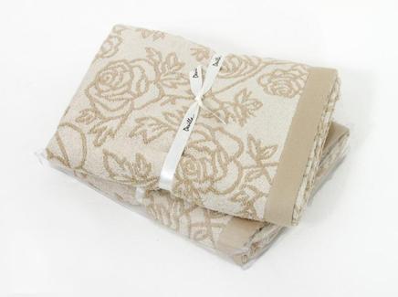 Полотенце rose (devilla) бежевый 140x70 см.