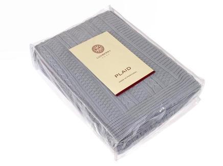 Плед imperio 10 (luxberry) серый 200x150 см.