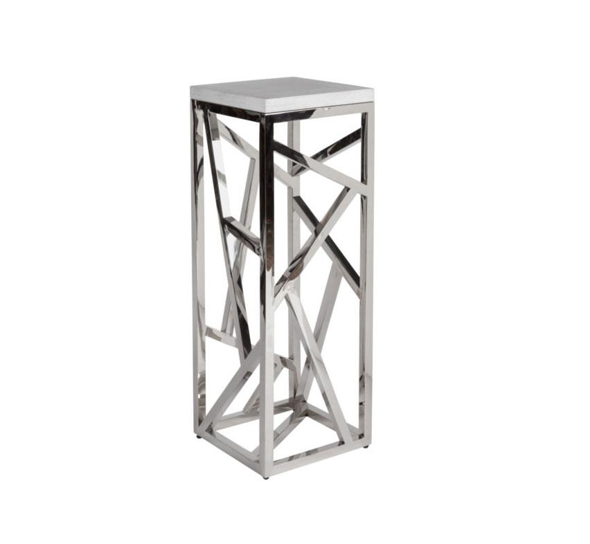 Консоль FittingsИнтерьерные консоли<br>Элементы конструктивизма вот уже полвека не оставляют умы дизайнеров. Они придумывают моднейшие модели, сочетая сплетение хаотичных и строгих металлических линий с новейшими материалами и деревом. Эта консоль – великолепный представитель современного мебельного искусства – будет ярким украшением гостиной. Какой бы мебелью Вы ни решили окружить Fittings, он (она) гармонично подстроится и внесет в интерьер нотку постмодерна.&amp;lt;div&amp;gt;&amp;lt;br&amp;gt;&amp;lt;/div&amp;gt;<br><br>Material: Металл<br>Width см: 40<br>Depth см: 40<br>Height см: 110