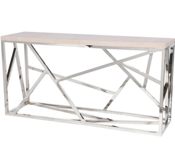 Консоль FittingsИнтерьерные консоли<br>Элементы конструктивизма вот уже полвека не оставляют умы дизайнеров. Они придумывают моднейшие модели, сочетая сплетение хаотичных и строгих металлических линий с новейшими материалами и деревом. Эта консоль – великолепный представитель современного мебельного искусства – будет ярким украшением гостиной. Какой бы мебелью Вы ни решили окружить Fittings, он (она) гармонично подстроится и внесет в интерьер нотку постмодерна.<br><br>Material: Металл<br>Ширина см: 180<br>Высота см: 90<br>Глубина см: 50