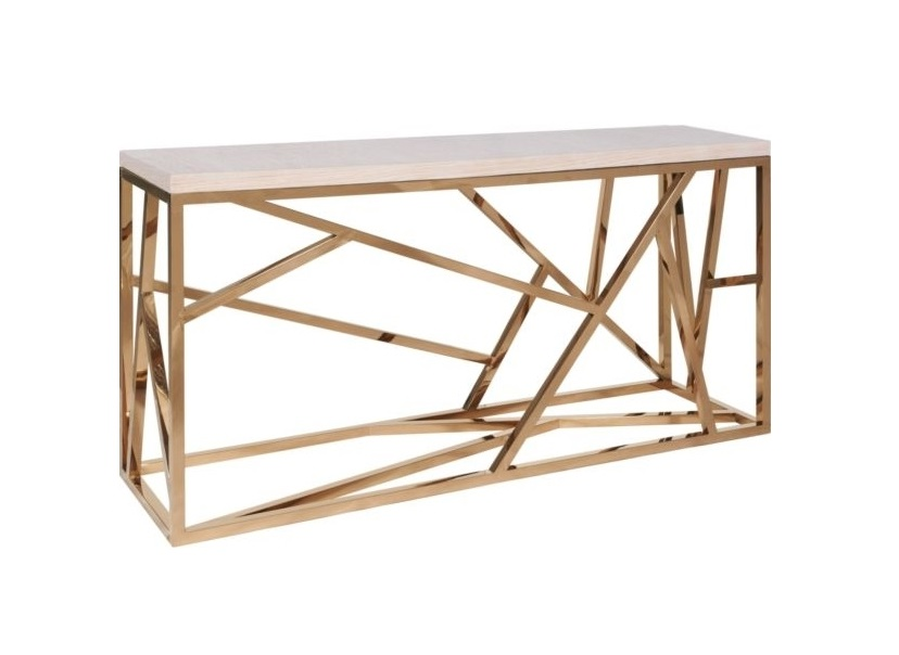 Консоль FittingsИнтерьерные консоли<br>Элементы конструктивизма вот уже полвека не оставляют умы дизайнеров. Они придумывают моднейшие модели, сочетая сплетение хаотичных и строгих металлических линий с новейшими материалами и деревом. Эта консоль – великолепный представитель современного мебельного искусства – будет ярким украшением гостиной. Какой бы мебелью Вы ни решили окружить Fittings, он (она) гармонично подстроится и внесет в интерьер нотку постмодерна.<br><br>Material: Металл<br>Width см: 180<br>Depth см: 50<br>Height см: 90