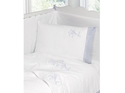 Комплект постельного белья синички (luxberry) белый 100x140 см.