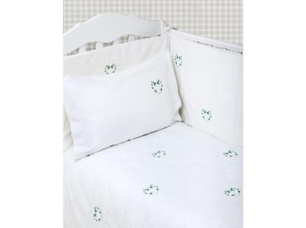 Комплект постельного белья сердечки new (luxberry) белый 100x140 см.