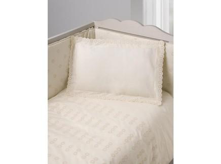 Комплект постельного белья кружочки (luxberry) бежевый 100x140 см.