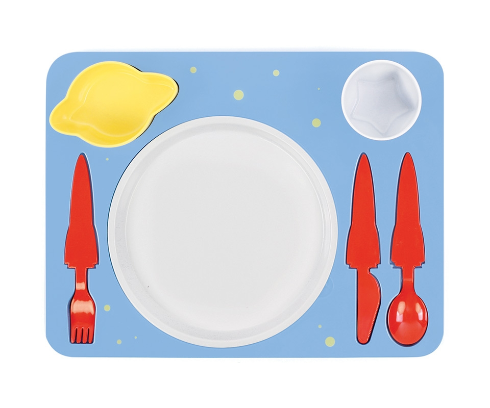 Поднос-сервиз для ребенка Space