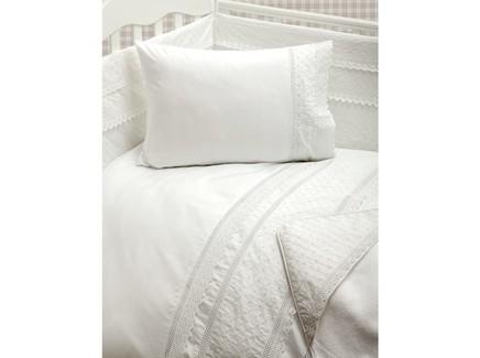 Комплект постельного белья carol (luxberry) белый 100x140 см.