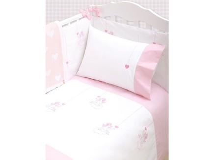 Комплект постельного белья angels (luxberry) розовый 100x140 см.