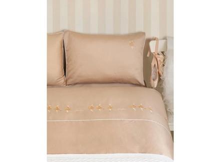 Комплект постельного белья ballet (luxberry) бежевый 140x205 см.