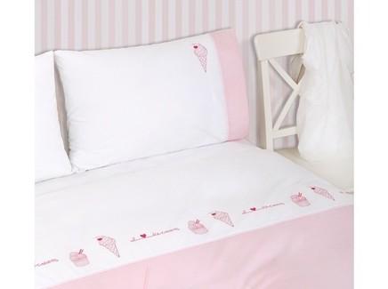 Комплект постельного белья icecream (luxberry) розовый 140x205 см.