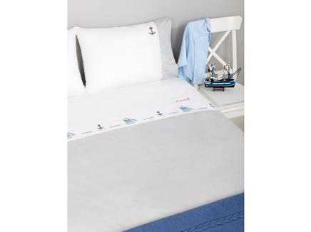 Комплект постельного белья sea dreams (luxberry) белый 140x205 см.