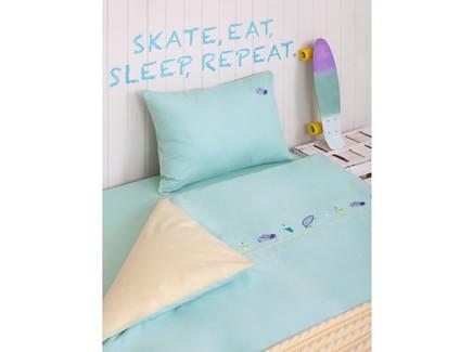 Комплект постельного белья skateboys (luxberry) бирюзовый 140.0x205.0 см.