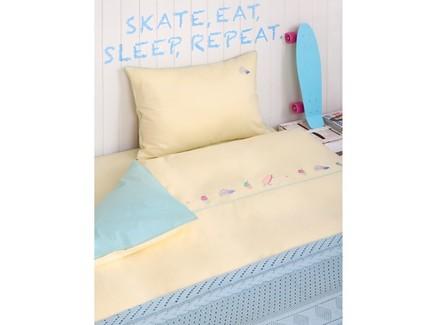Комплект постельного белья skategirls (luxberry) желтый 150x210 см.