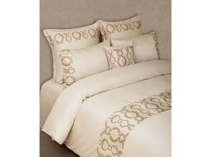 Комплект постельного белья snake (luxberry) бежевый 240x260 см.