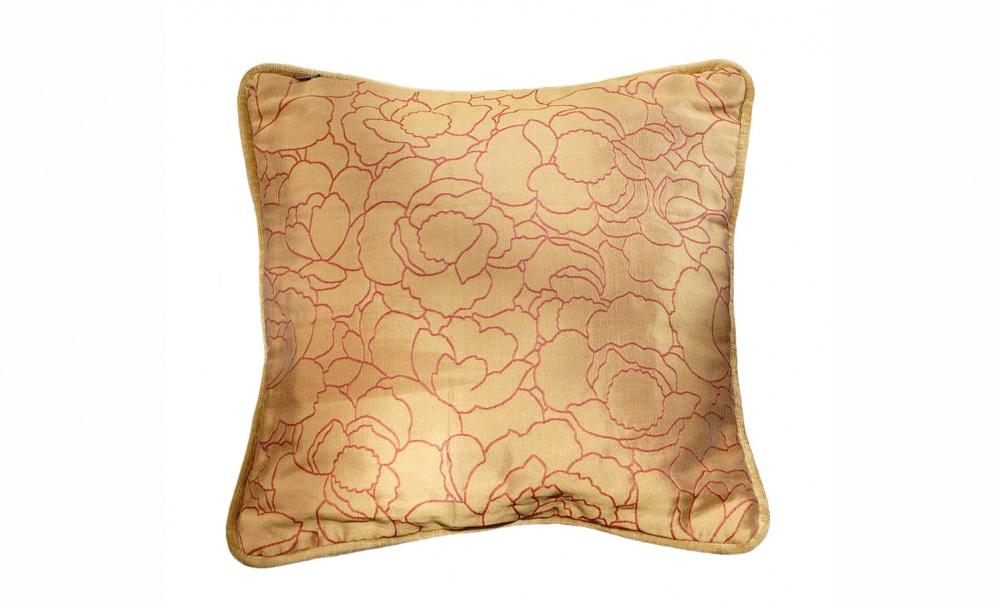 Подушка Золотой пионКвадратные подушки и наволочки<br>Двусторонняя подушка.<br><br>Material: Текстиль<br>Ширина см: 30<br>Высота см: 30<br>Глубина см: 5