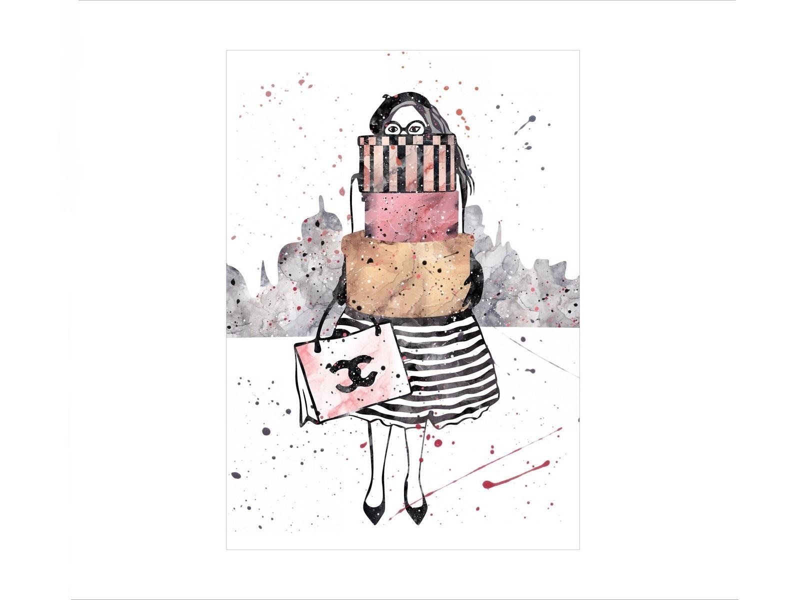 Постер Девушка с подаркамиПостеры<br><br><br>Material: Бумага<br>Width см: 30<br>Depth см: 1,5<br>Height см: 40