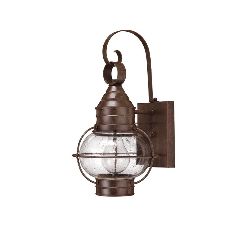 Настенный фонарь Hinkely LightingУличные настенные светильники<br>Цоколь: E27.&amp;lt;div&amp;gt;Мощность: 60W.&amp;lt;/div&amp;gt;&amp;lt;div&amp;gt;Количество ламп: 1.&amp;lt;/div&amp;gt;&amp;lt;div&amp;gt;Цвет: бронзовая охра.&amp;lt;/div&amp;gt;<br><br>Material: Металл<br>Ширина см: 18<br>Высота см: 35