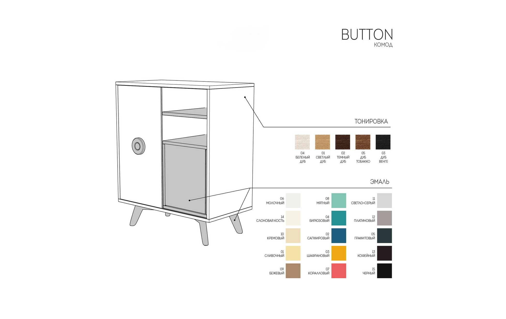 "Комод ""BUTTON"" от The Furnish"