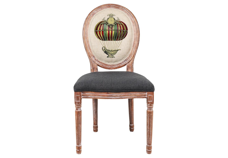 Стул «Монгольфьер» версия 4Обеденные стулья<br>Мягкие стулья &amp;quot;Монгольфьер&amp;quot; - счастливая встреча разных столетий французской культуры: рисунок &amp;quot;модерна&amp;quot; уютно вписался в королевский корпус эпохи Луи-Филиппа. Классические серые тона - залог гармонии с большинством предметов мебели и декора. Благородная фактура натурального дерева вселяют атмосферу тепла, спокойствия и уюта.<br>Винтажный мотив, исполненный новейшими технологиями, обещает совместимость этой модели с большинством классических и современных жанров. <br>Обивка оснащена тефлоновым покрытием против пятен.<br><br>Material: Дерево<br>Width см: 50<br>Depth см: 55<br>Height см: 95