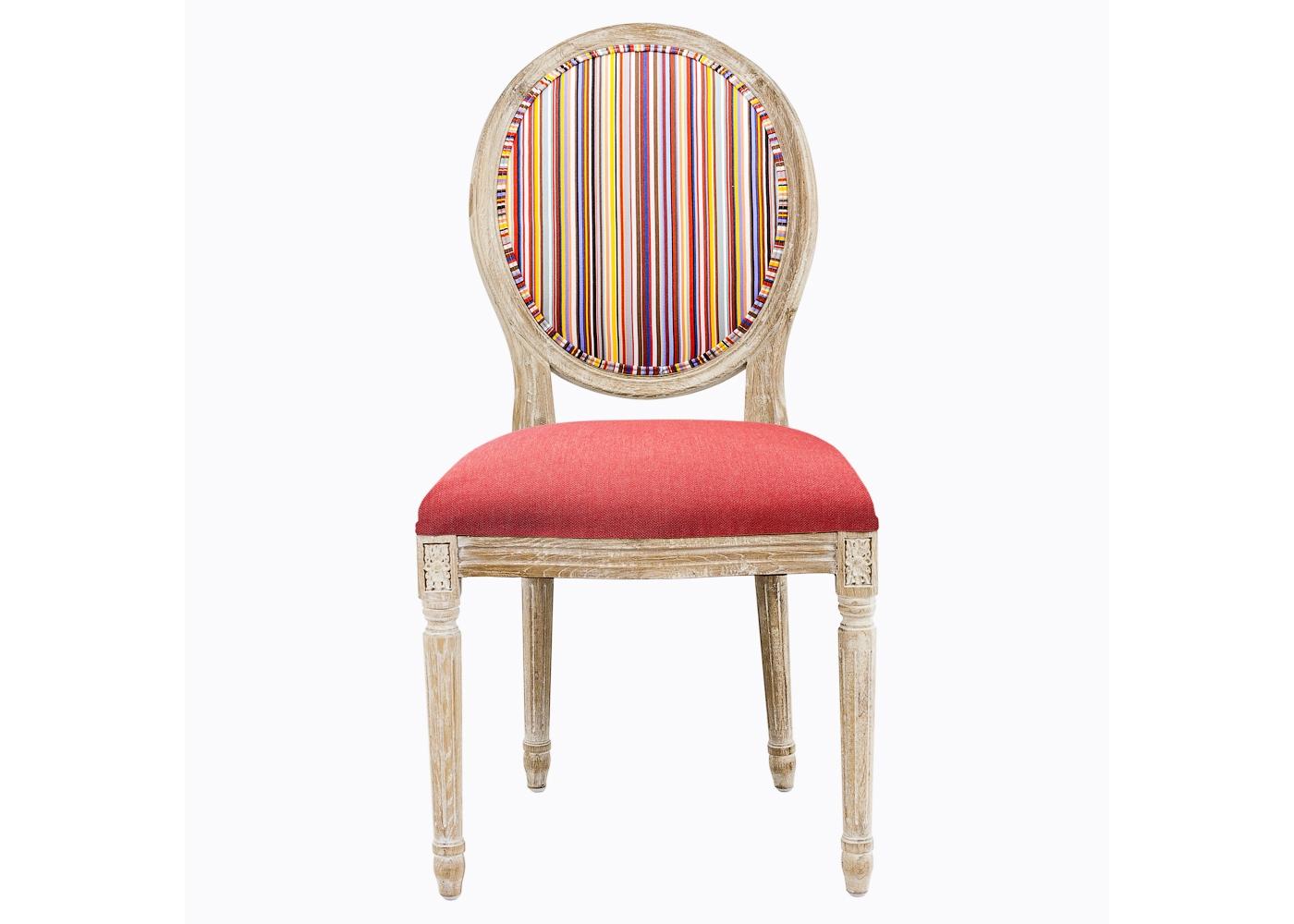 Стул «Руж Страйп»Обеденные стулья<br>Стулья &amp;quot;Руж Страйп&amp;quot; - интерьерный креатив гостиной и столовой, спальни и кабинета, городской квартиры и загородной виллы. Винтажный мотив, исполненный новейшими технологиями, обещают совместимость этой модели с большинством классических и современных стилей.<br>Теплый золотистый оттенок натурального дуба - уникальная цветовая совместимость с абсолютно любым фоном помещения и большинством интерьерных жанров, от классицизма до &amp;quot;шале&amp;quot;. Искусное патинирование - не только дань винтажной моде, но и справедливый намек на исключительную долговечность мебели из натурального дуба. <br>Мягкость, комфортабельность и долговечность сидения обеспечены внутренней подвеской из эластичных ремней.<br><br>Material: Дерево<br>Width см: 50<br>Depth см: 58<br>Height см: 99