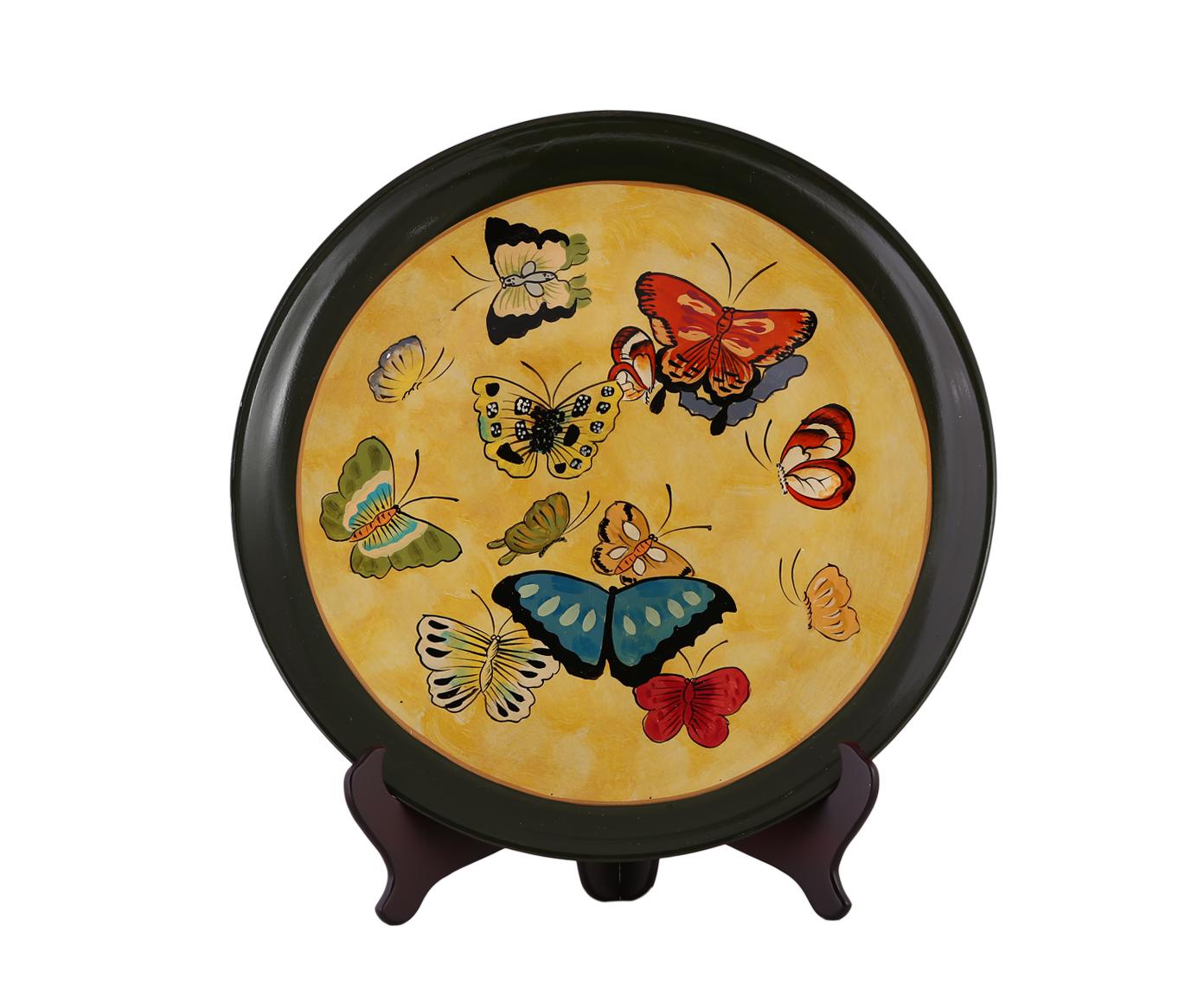 Декоративная тарелкаДекоративные тарелки<br><br><br>Material: Керамика<br>Depth см: 4,5<br>Height см: None<br>Diameter см: 55