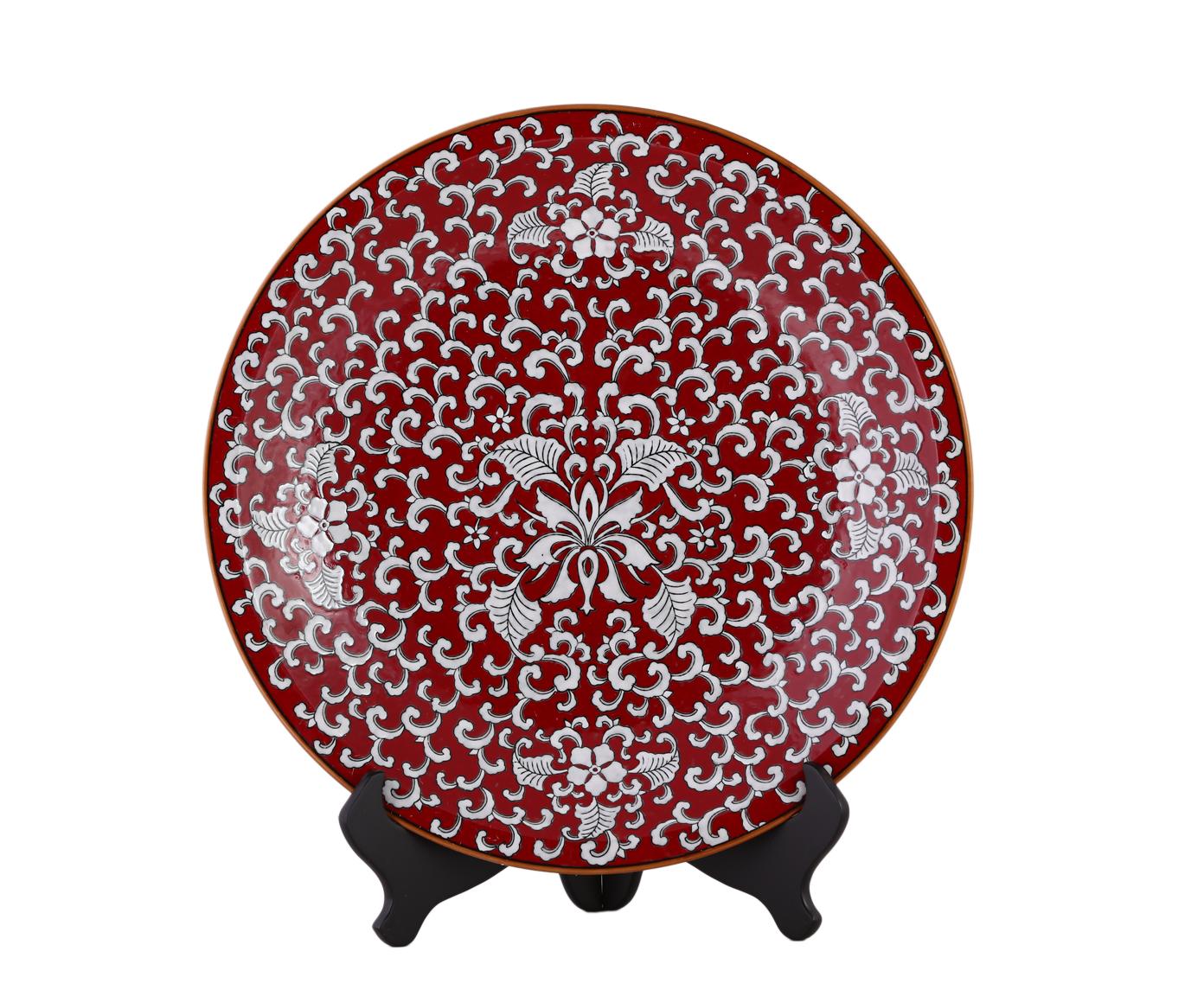 Декоративная тарелкаДекоративные тарелки<br><br><br>Material: Керамика<br>Depth см: 5,5<br>Diameter см: 45