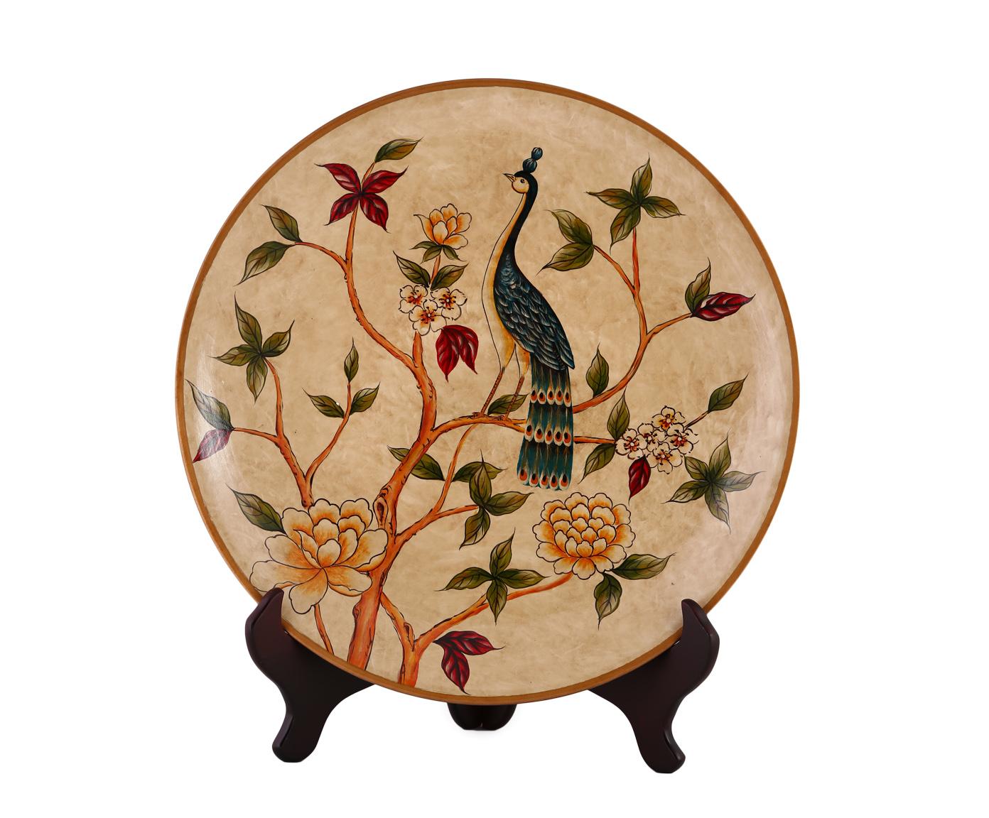 Декоративная тарелкаДекоративные тарелки<br><br><br>Material: Керамика<br>Depth см: 5,5<br>Height см: None<br>Diameter см: 33