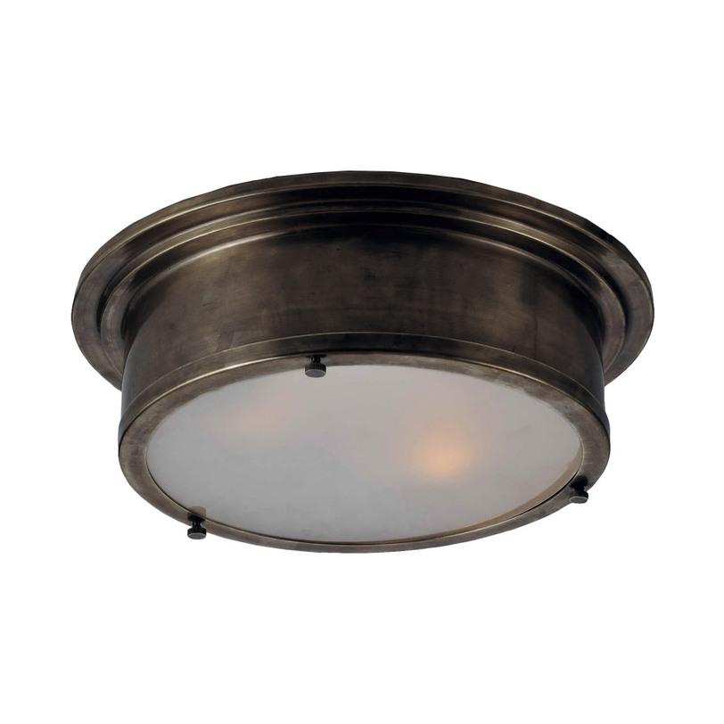 Светильник потолочныйПотолочные светильники<br>Матовое стекло.<br>С помощью винтов стекло можно вынуть. Это позволит производить беспрепятственно замену лампы. Утилитарное направление в искусстве. Подобные светильники пользовались популярностью в коридорах поездов и кораблей.<br><br>Material: Стекло<br>Height см: 12.0<br>Diameter см: 43.0
