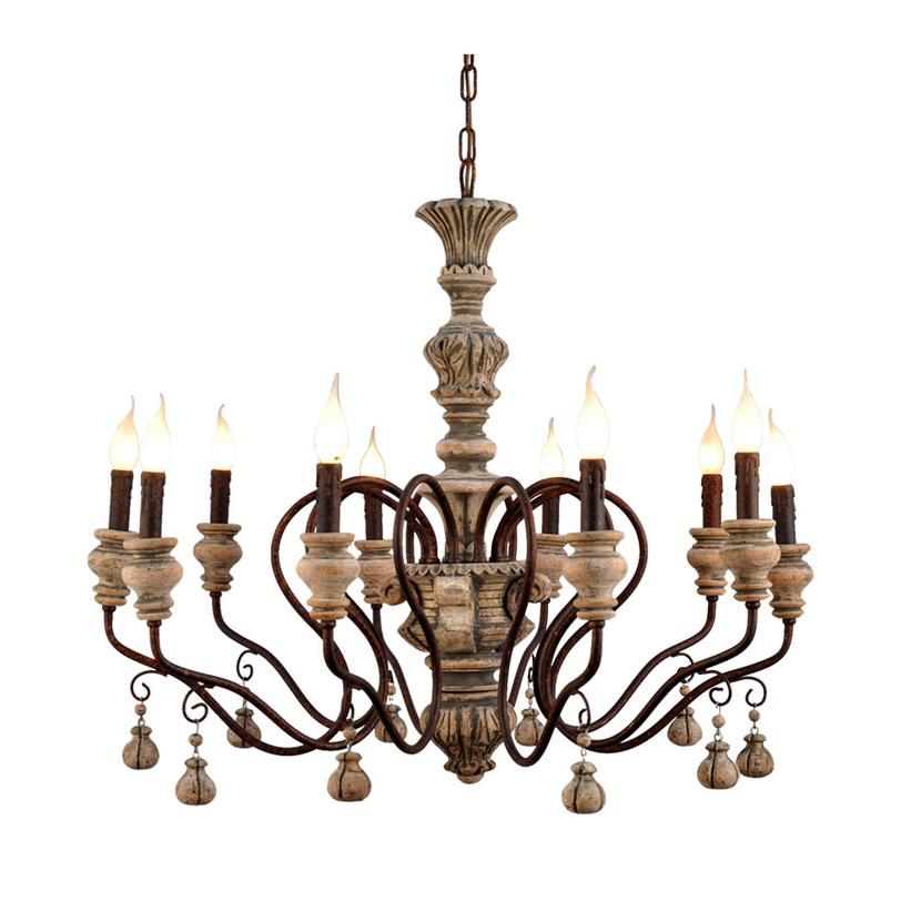 ЛюстраЛюстры подвесные<br>&amp;lt;div&amp;gt;Предметы из дерева обладают особым очарованием и энергетикой, эта винтажная модель люстры - не исключение. Резные детали каркаса из состаренного материала подчеркивают светильники в форме свечей.&amp;lt;/div&amp;gt;&amp;lt;div&amp;gt;&amp;lt;br&amp;gt;&amp;lt;/div&amp;gt;&amp;lt;div&amp;gt;Вид цоколя: E14&amp;lt;/div&amp;gt;&amp;lt;div&amp;gt;Мощность: &amp;amp;nbsp;40W&amp;lt;/div&amp;gt;&amp;lt;div&amp;gt;Количество ламп: 10 (нет в комплекте)&amp;lt;/div&amp;gt;<br><br>Material: Дерево<br>Length см: None<br>Width см: 90.0<br>Depth см: 90.0<br>Height см: 82.0<br>Diameter см: None