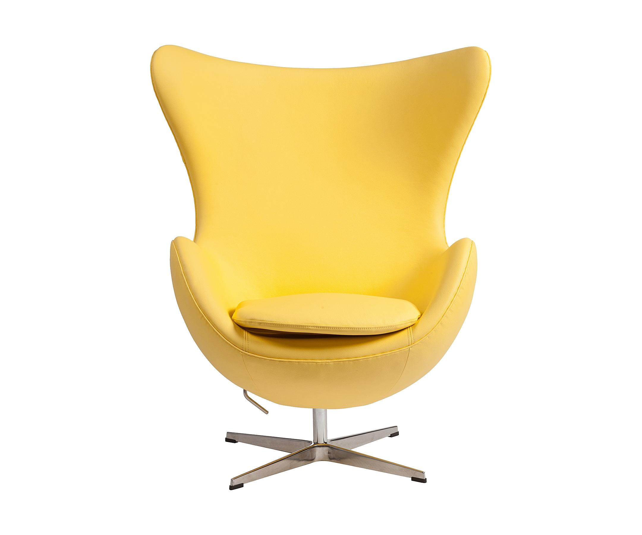Кресло Egg ChairКресла с высокой спинкой<br><br><br>Material: Кожа<br>Width см: 82<br>Depth см: 76<br>Height см: 105