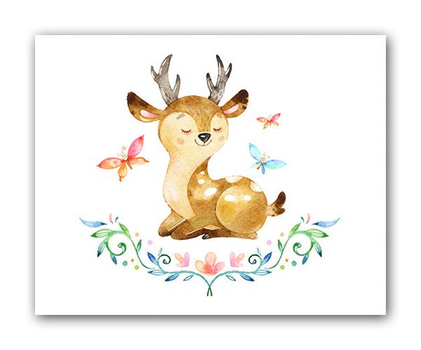 Постер ОленёнокПостеры<br>Рамки на выбор белого, черного, серебряного, золотого цветов.<br><br>Material: Бумага<br>Width см: 40<br>Depth см: 1,5<br>Height см: 30
