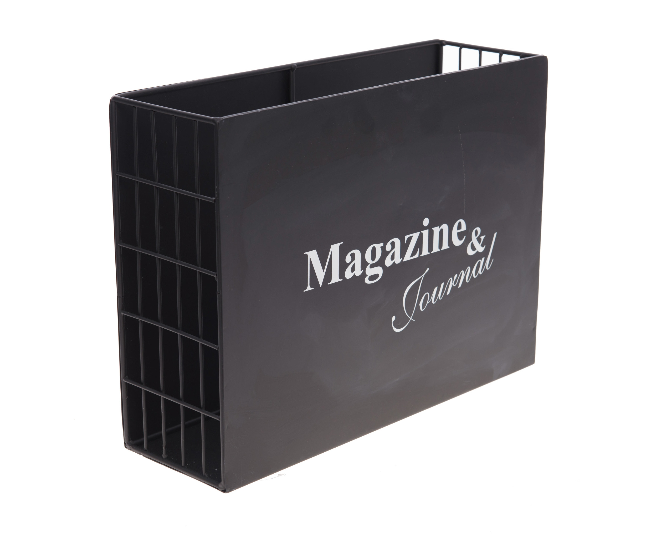 Журнальница Solt-Sainte-MarieАксессуары для хранения бумаги и канцелярии<br><br><br>Material: Металл<br>Length см: None<br>Width см: 38<br>Depth см: 12<br>Height см: 28