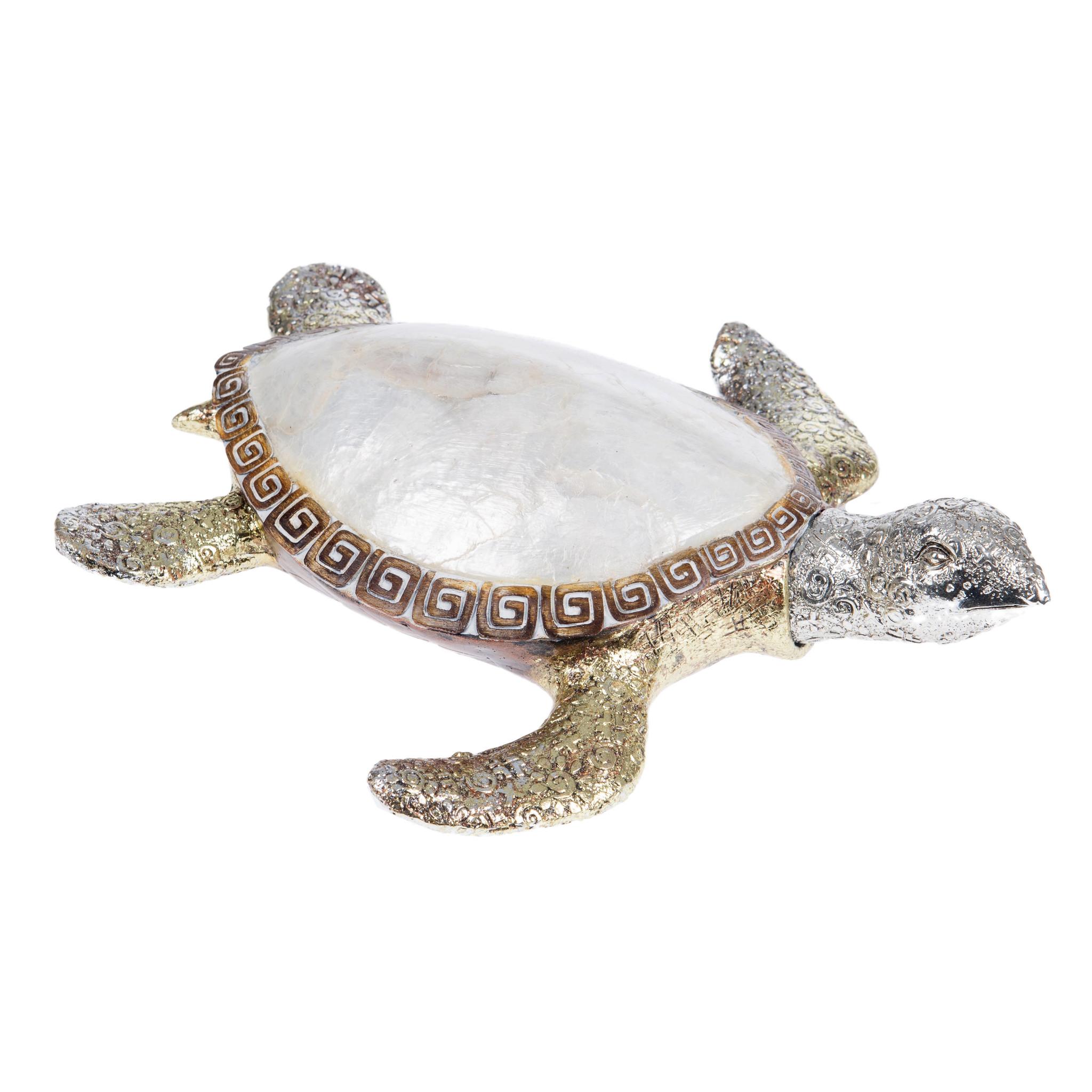 Статуэтка-черепаха EvansvilleСтатуэтки<br><br><br>Material: Полистоун<br>Width см: 22<br>Depth см: 19,5<br>Height см: 6