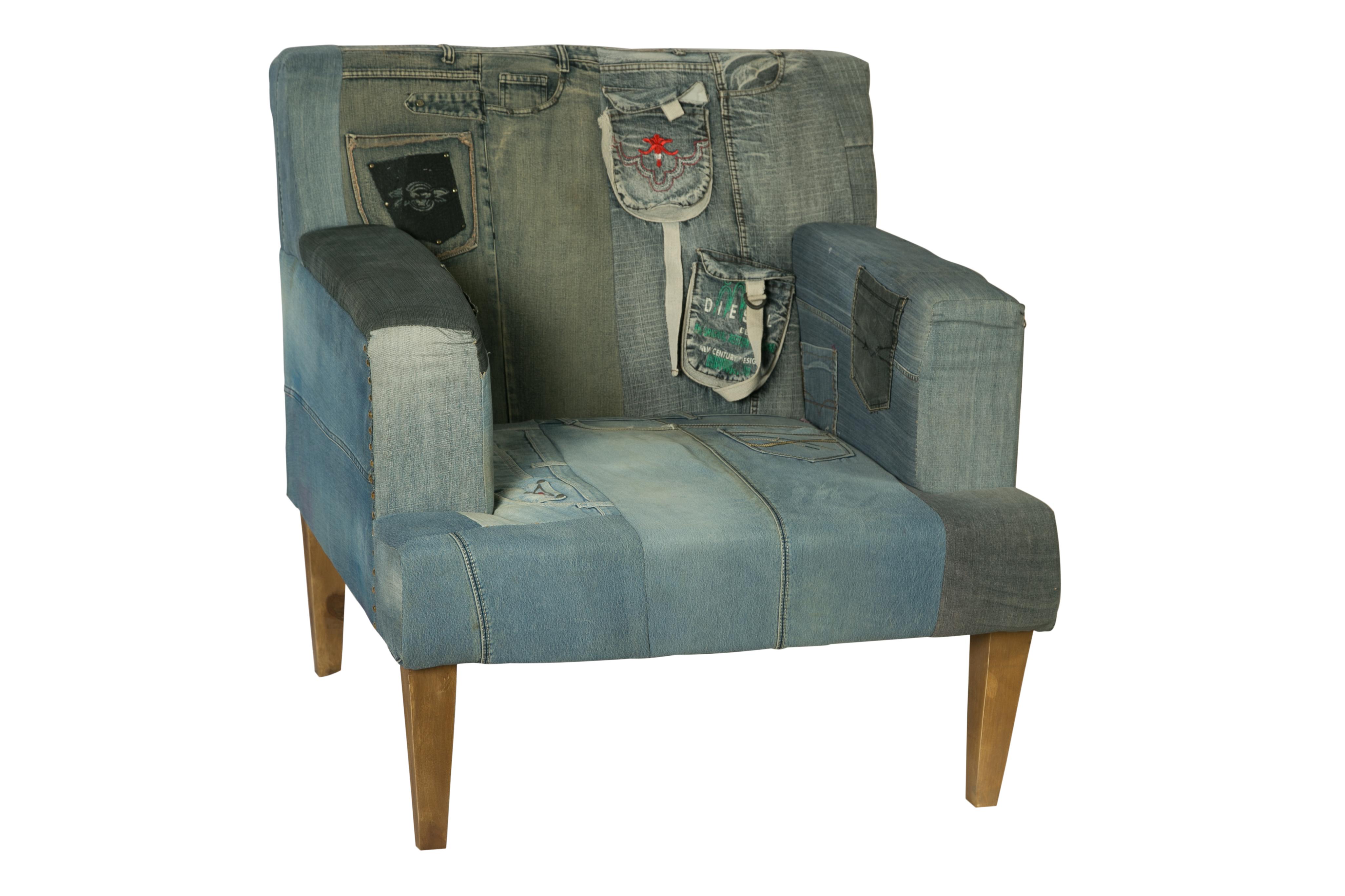 КреслоИнтерьерные кресла<br><br><br>Material: Джинса<br>Width см: 77<br>Depth см: 77<br>Height см: 92