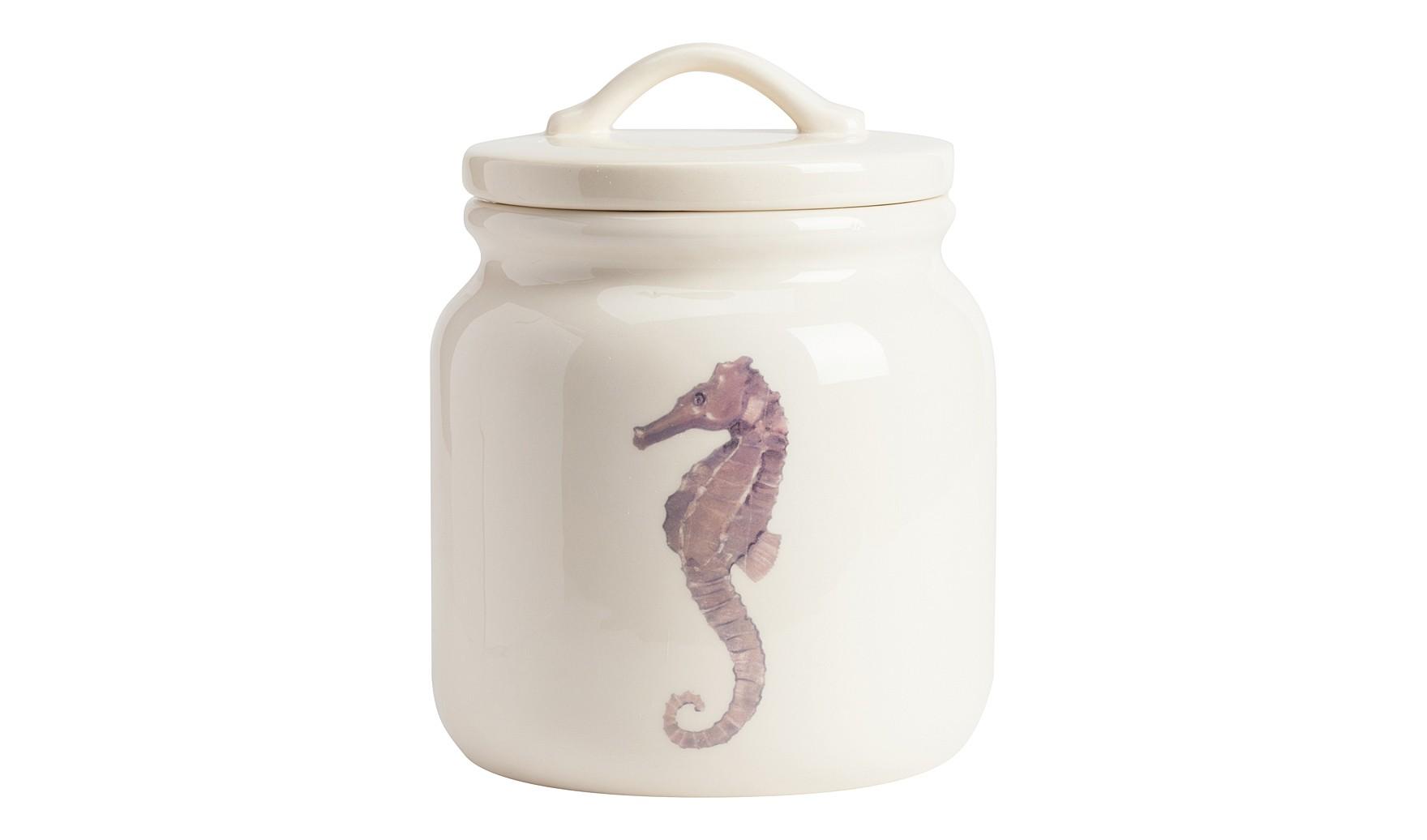 Емкость для хранения SeahorseЕмкости для хранения<br><br><br>Material: Керамика<br>Height см: 21<br>Diameter см: 17