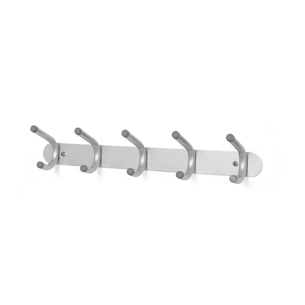 Вешалка BrellaВешалки<br>Универсальная вешалка на 10 крючков с прорезиненными кончиками. Может крепиться к стене стандартными шурупами или на дверь при помощи специальных креплений, которые входят в комплект. Каждый крючок выдерживает нагрузку в 2, 25 кг.                                                       <br><br>Дизайн: Jordan Murphy<br><br>Material: Металл<br>Width см: 42<br>Depth см: 9,5<br>Height см: 7,5<br>Diameter см: None