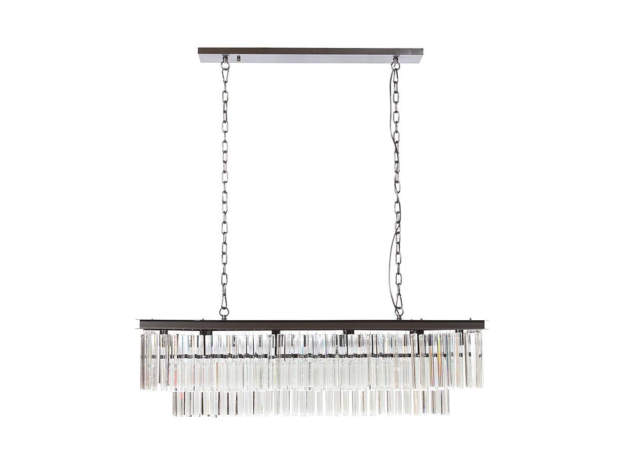 Люстра Sydney Collection Pendent LampЛюстры подвесные<br>Предназначена для использования со светодиодными лампами, лампами не комплектуется.&amp;lt;br&amp;gt;&amp;lt;br&amp;gt;Материалы: металл, хрусталь&amp;lt;br&amp;gt;Вид цоколя: E14&amp;lt;br&amp;gt;Мощность ламп: 40W&amp;lt;br&amp;gt;Количество ламп: 10<br><br>Material: Металл<br>Width см: 125<br>Depth см: 36<br>Height см: 35