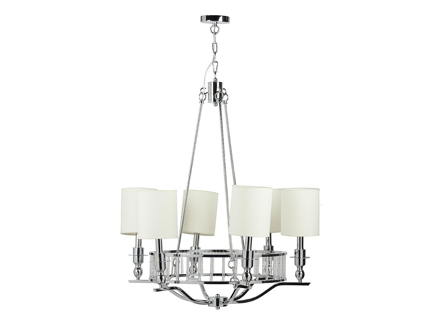 Люстра Easton Light ChandelierЦвет бежевый, стальное основание, тканевый абажур, предназначена для использования со светодиодными лампами, лампами не комплектуется.&amp;lt;br&amp;gt;&amp;lt;br&amp;gt;Вид цоколя: E14&amp;lt;br&amp;gt;Мощность ламп: 40 W&amp;lt;br&amp;gt;Количество ламп: 6<br><br>Material: Металл<br>Height см: 80<br>Diameter см: 70