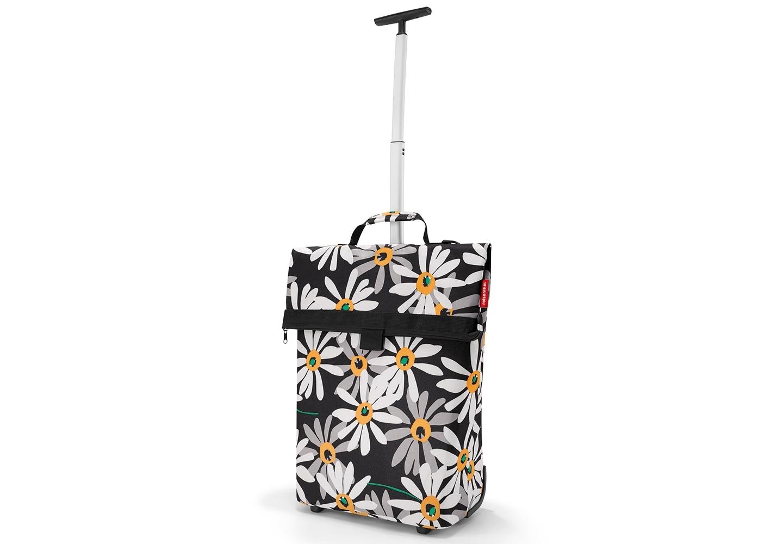 Сумка-тележка Trolley m margariteСумки<br>Вместительная сумка-трансформер, которая может менять размер и превращаться в сумку-тележку. Удобна для походов в магазин, поездок и переноски большого количества вещей.<br>- телескопическая ручка с двумя степенями сложения убирается в специальный карман на молнии;<br>- сзади предусмотрен карман на молнии для мелочей;<br>- выдерживает до 10 кг.;<br>- объем – 43 литра.<br><br>Material: Текстиль<br>Ширина см: 43<br>Высота см: 53<br>Глубина см: 21