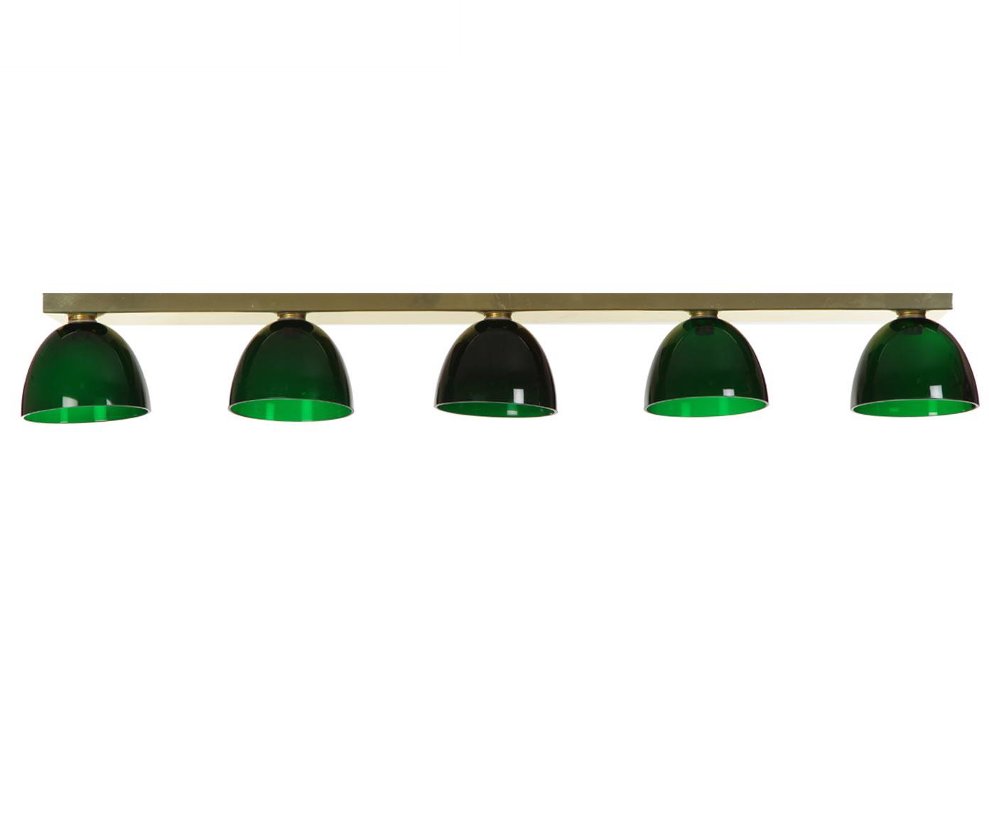 Дизайнерский подвесной светильникПодвесные светильники<br>&amp;lt;div&amp;gt;Под лампу 12 вольт / 50 ватт или лампу LED (12 вольт), рассчитан на 5 ламп.&amp;lt;/div&amp;gt;&amp;lt;div&amp;gt;Напряжение 12V , электронный трансформатор в комплекте.&amp;lt;/div&amp;gt;&amp;lt;div&amp;gt;Длину подвеса можно регулировать.&amp;lt;/div&amp;gt;<br><br>Material: Металл<br>Width см: 94<br>Depth см: 7<br>Height см: 210<br>Diameter см: 12,8