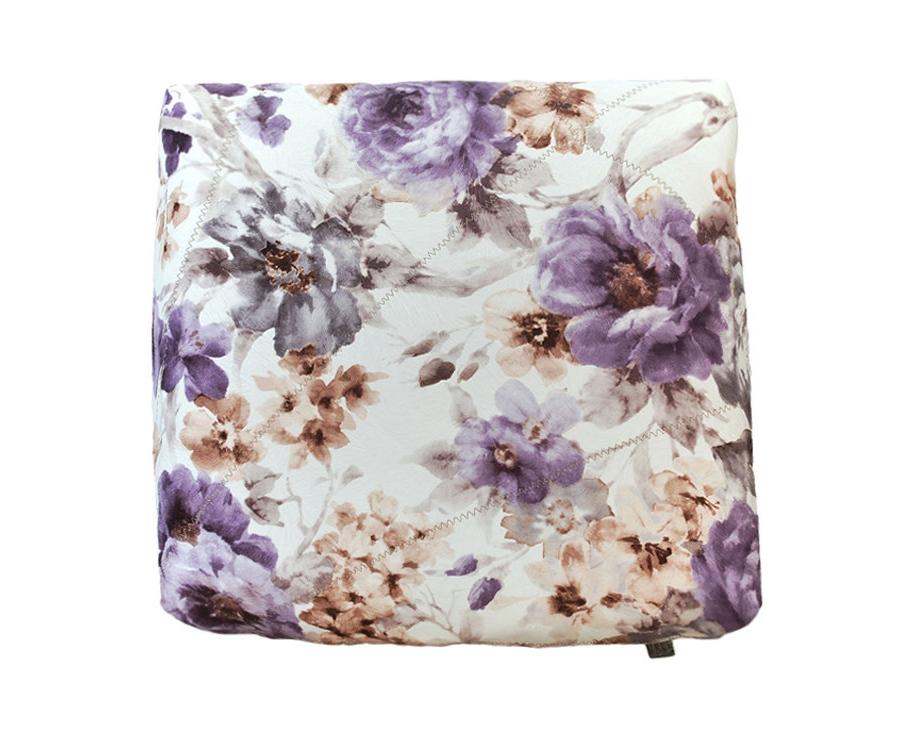 Декоративная подушка Ноктюри с шелковой отстрочкой с фиолетовым компаньономПрямоугольные подушки и наволочки<br>Чехол подушки из нежного велюра с декоративной отстрочкой, в сочетании с однотонным фиолетовым велюром.<br><br>Material: Велюр<br>Width см: 45<br>Depth см: 18<br>Height см: 45